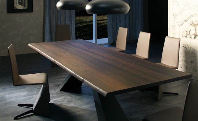 Eliot Wood Cattelan Italia wooden dining table and chairs.