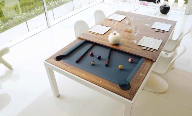 Fusiontables pool table in sunny room.