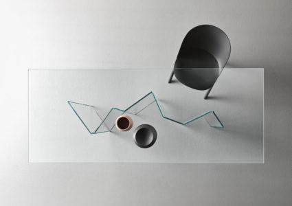 Glass Metropolis table.